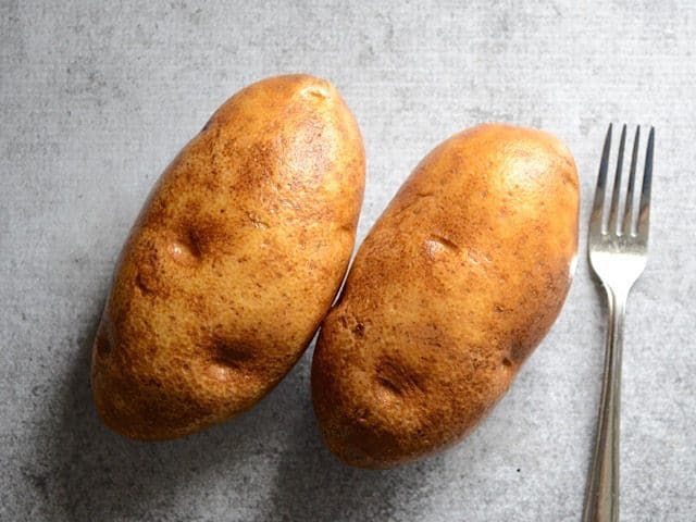 Clean and Prick Potatoes