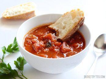 Smoky Tomato Soup - BudgetBytes.com