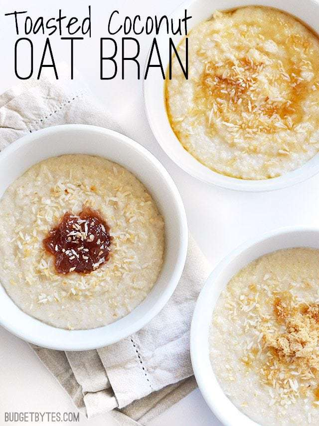 Toasted Coconut Oat Bran - BudgetBytes.com