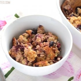 Apple Cherry Baked Oatmeal