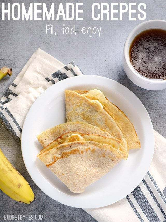 Homemade Crepes - BudgetBytes.com
