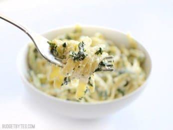 Easy Spinach Ricotta Pasta - BudgetBytes.com