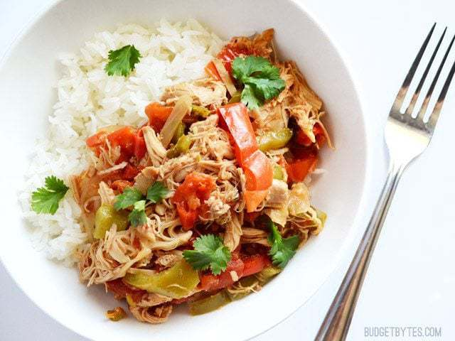 Slow Cooker Chicken Ropa Vieja - Budget Bytes