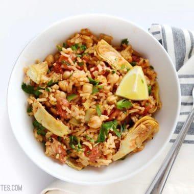 Spanish Chickpeas and Rice - BudgetBytes.com