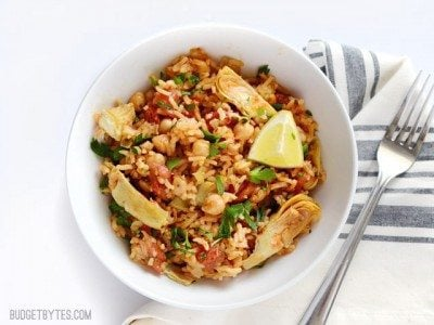 Spanish Chickpeas and Rice - BudgetBytes.com