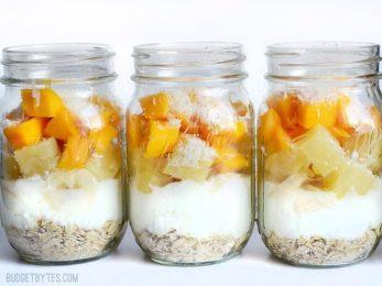 Tropical Yogurt Parfaits - BudgetBytes.com