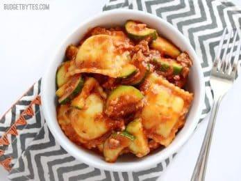 Zucchini Sausage Ravioli - BudgetBytes.com