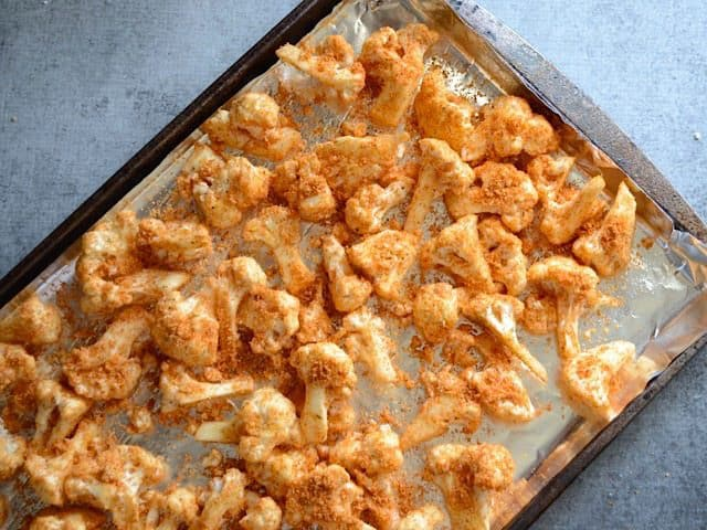 Cauliflower ready to roast