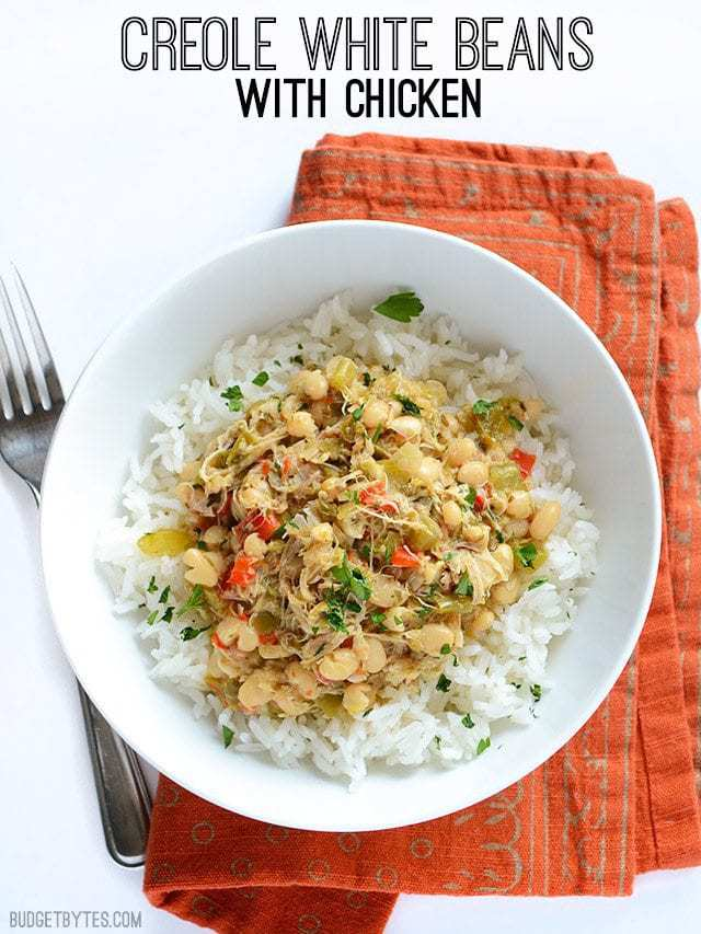 Creole White Beans with Chicken - BudgetBytes.com