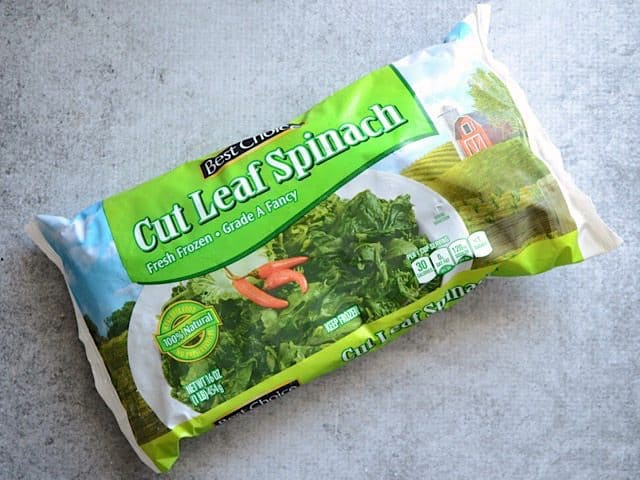 Bag of Frozen Spinach
