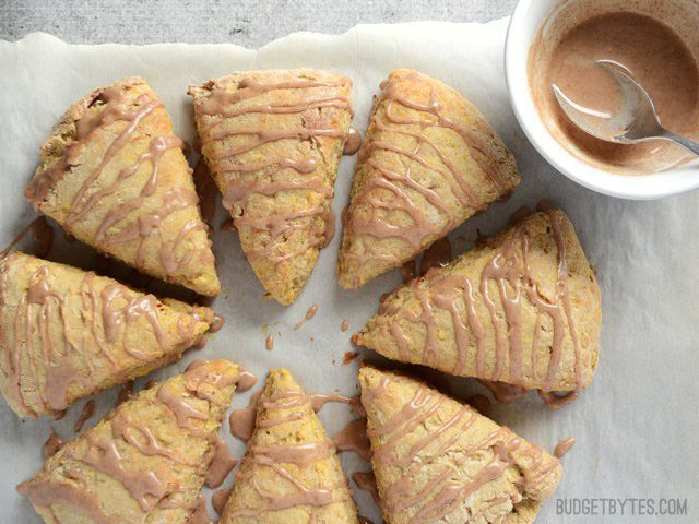 Glaze Apple Pie Scones - BudgetBytes.com