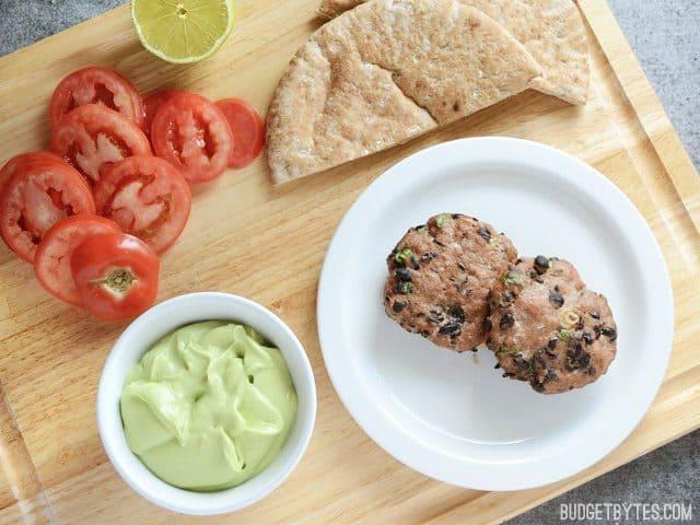 Mini Black Bean Turkey Burgers - BudgetBytes.com