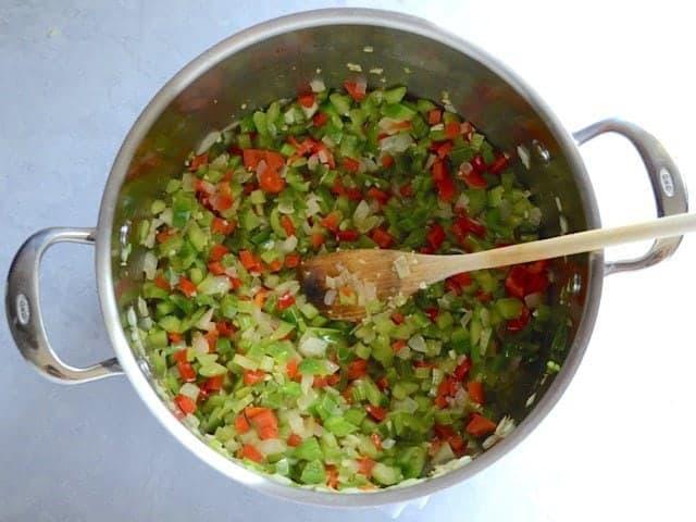Sautéed Vegetables for White Beans