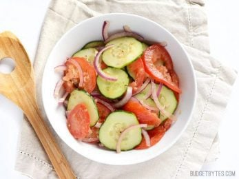 Simple Tomato Cucumber Salad - BudgetBytes.com