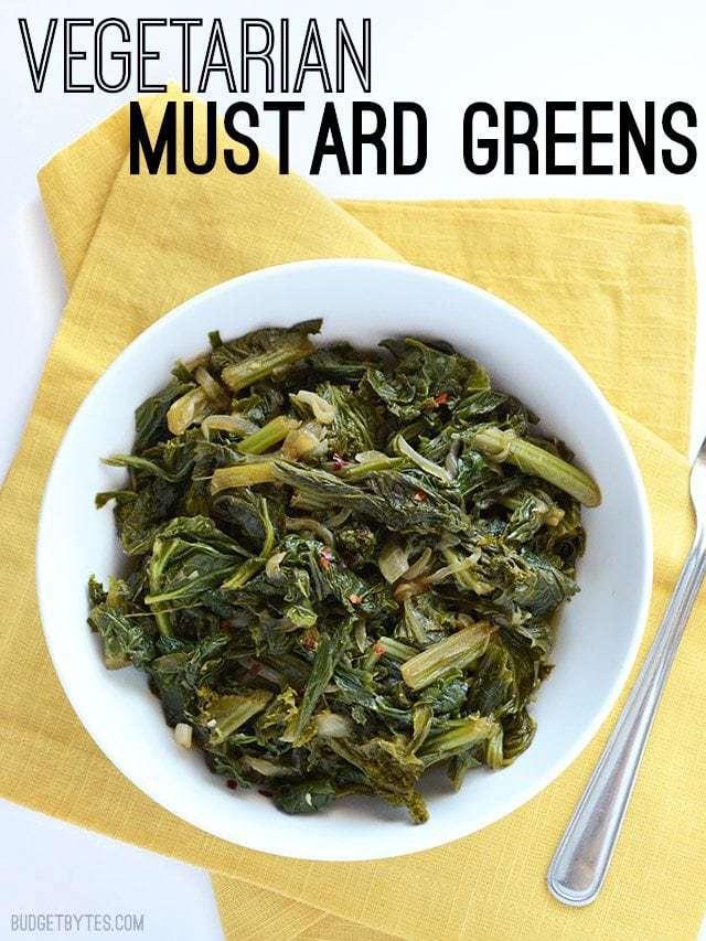 Vegetarian Mustard Greens - BudgetBytes.com