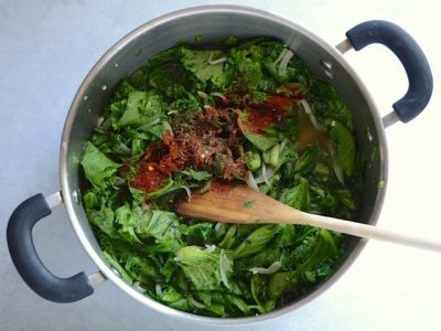 Wilted Greens Spices - Budget Bytes