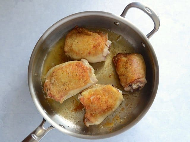 Brown Chicken Thighs