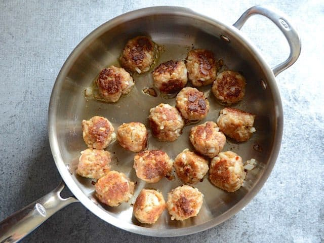 Browned Skillet Meatballs