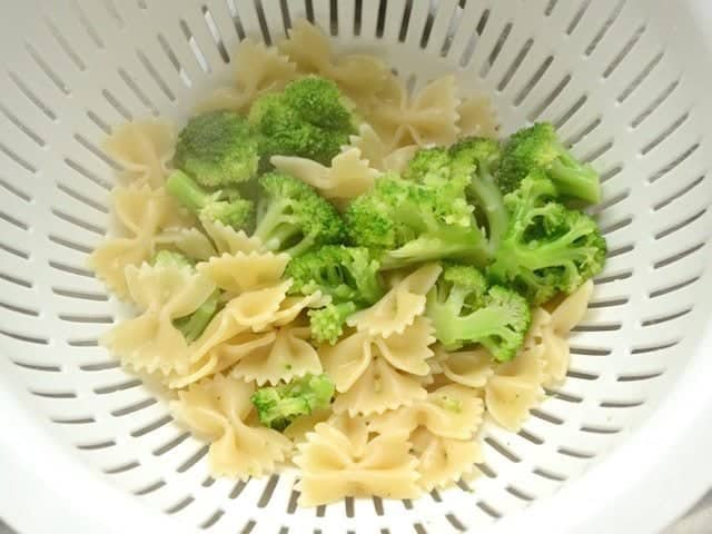 Drain Pasta and Broccoli