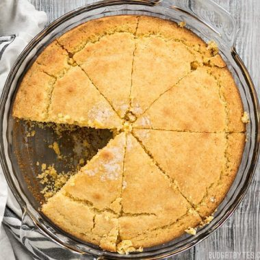 This simple yet delicious cornbread can be served for breakfast, lunch, or dinner. A staple recipe like this is invaluable! BudgetBytes.com