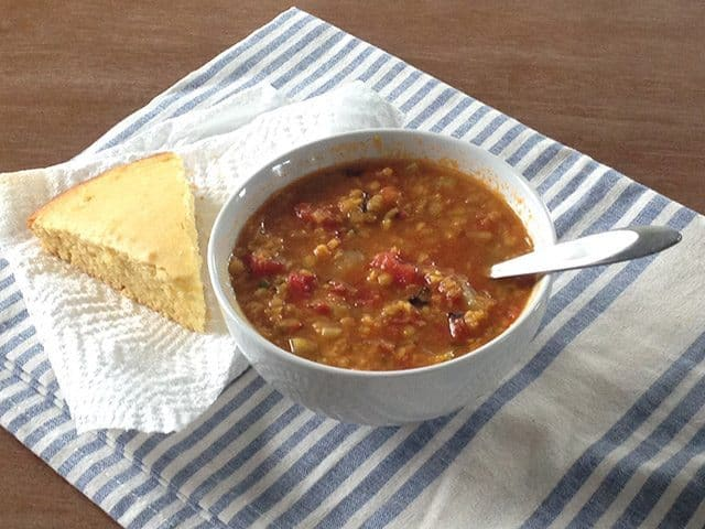 Mexican Lentil Stew and Cornbread - BudgetBytes.com