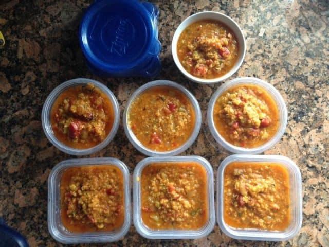 Lentil Stew Servings