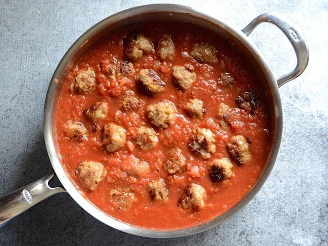 Skillet Meatballs in Sauce