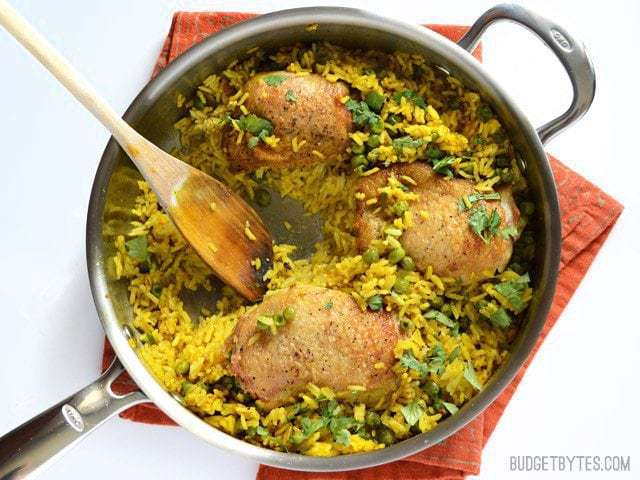 Yellow Rice Chicken Skillet Budget Bytes