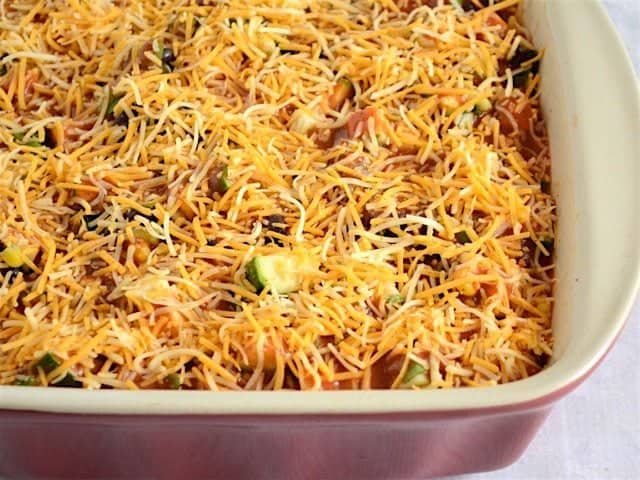 Layered Vegetable Enchilada Casserole