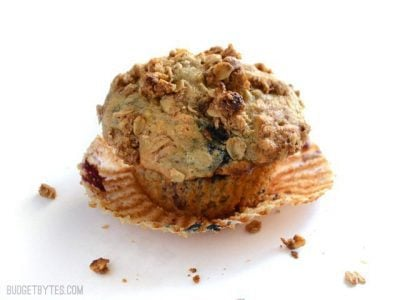 Triple Berry Oat Muffins
