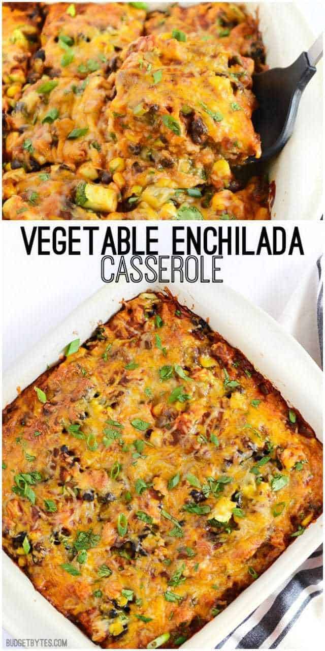 Vegetable Enchilada Casserole - BudgetBytes.com