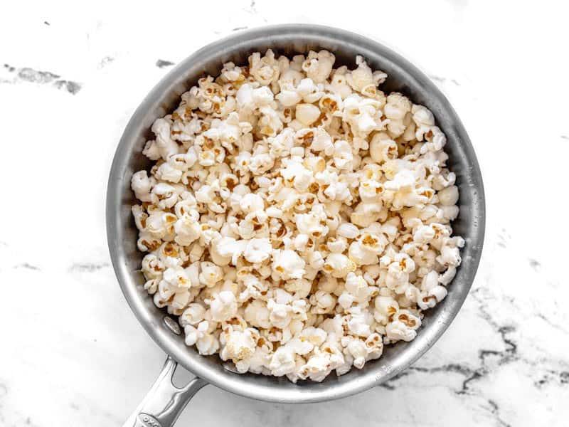 Pour Popcorn into a bowl