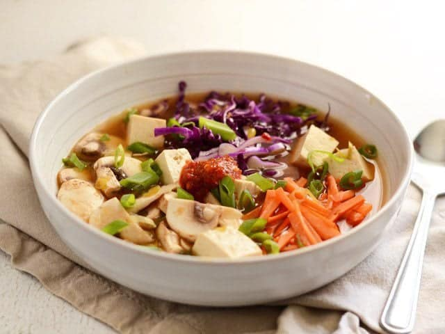 Hot & Sour Vegetable Soup with Tofu