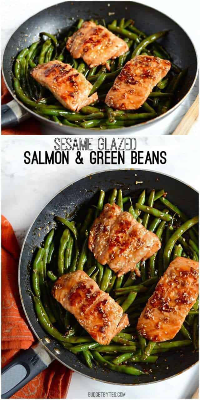 Five-Spice-Glazed Salmon With Sesame Green Beans Recipe ...