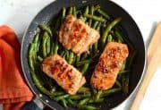Sesame Glazed Salmon and Green Beans