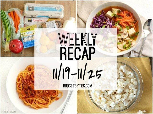 Weekly Recap 11/19 - BudgetBytes.com