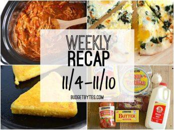 Weekly Recap 11-4 - BudgetBytes.com