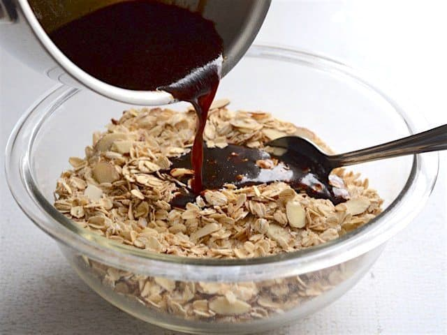 Gingersnap Granola Pour Wet into Dry