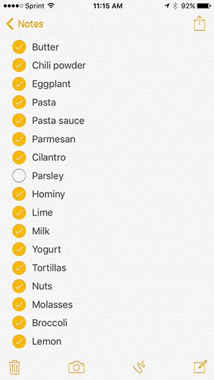 Shopping List 12-2