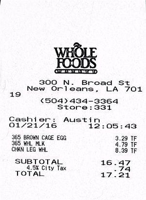 WFM receipt 1-21