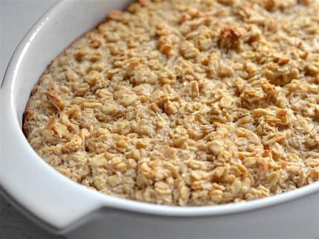 Banana Coconut Baked Oatmeal finished