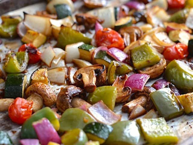 Broiled Balsamic Vegetables - BudgetBytes.com