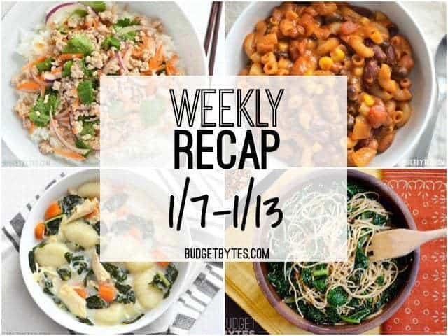 Weekly Recap 1-13