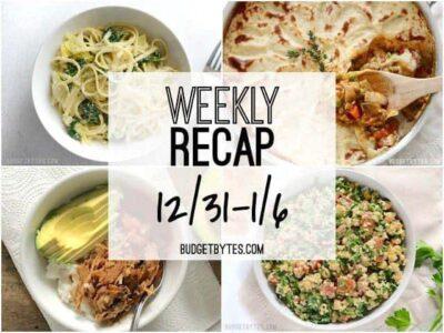 Weekly Recap 12/31 to 1/6 - BudgetBytes.com