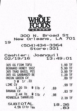 WFM receipt 2-19