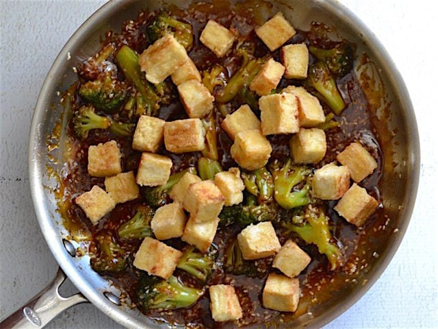 Add Back Tofu for Pan Fried Sesame Tofu with Broccoli - BudgetBytes.com
