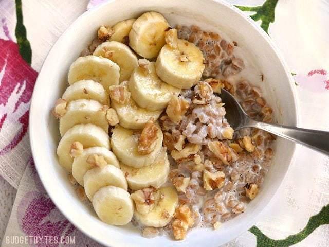 Banana Nut Breakfast Farro