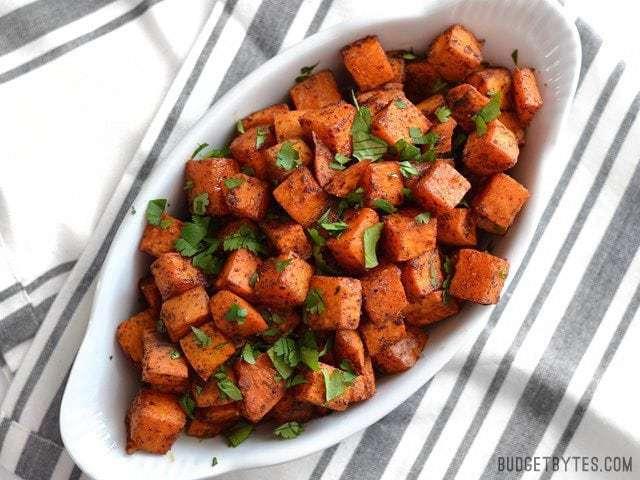 Chili Roasted Sweet Potatoes