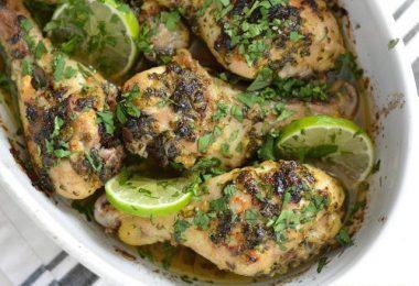 Cilantro Lime Chicken Drumsticks - BudgetBytes.com