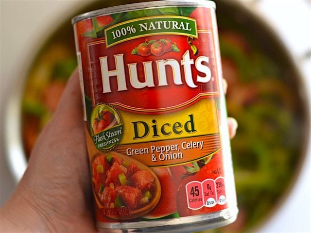Can of Diced Tomatoes with Celery